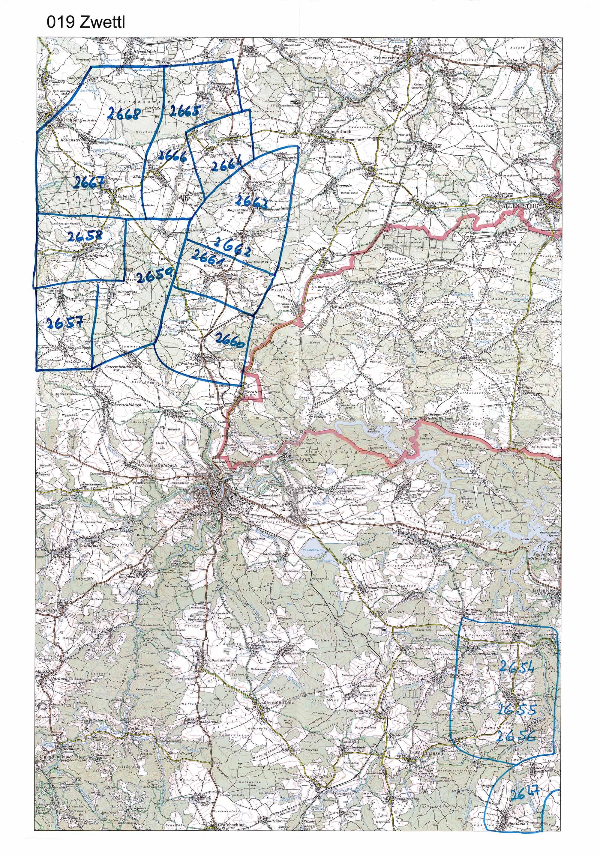 1958-1973 Karte 019 Schwarz/Weiß