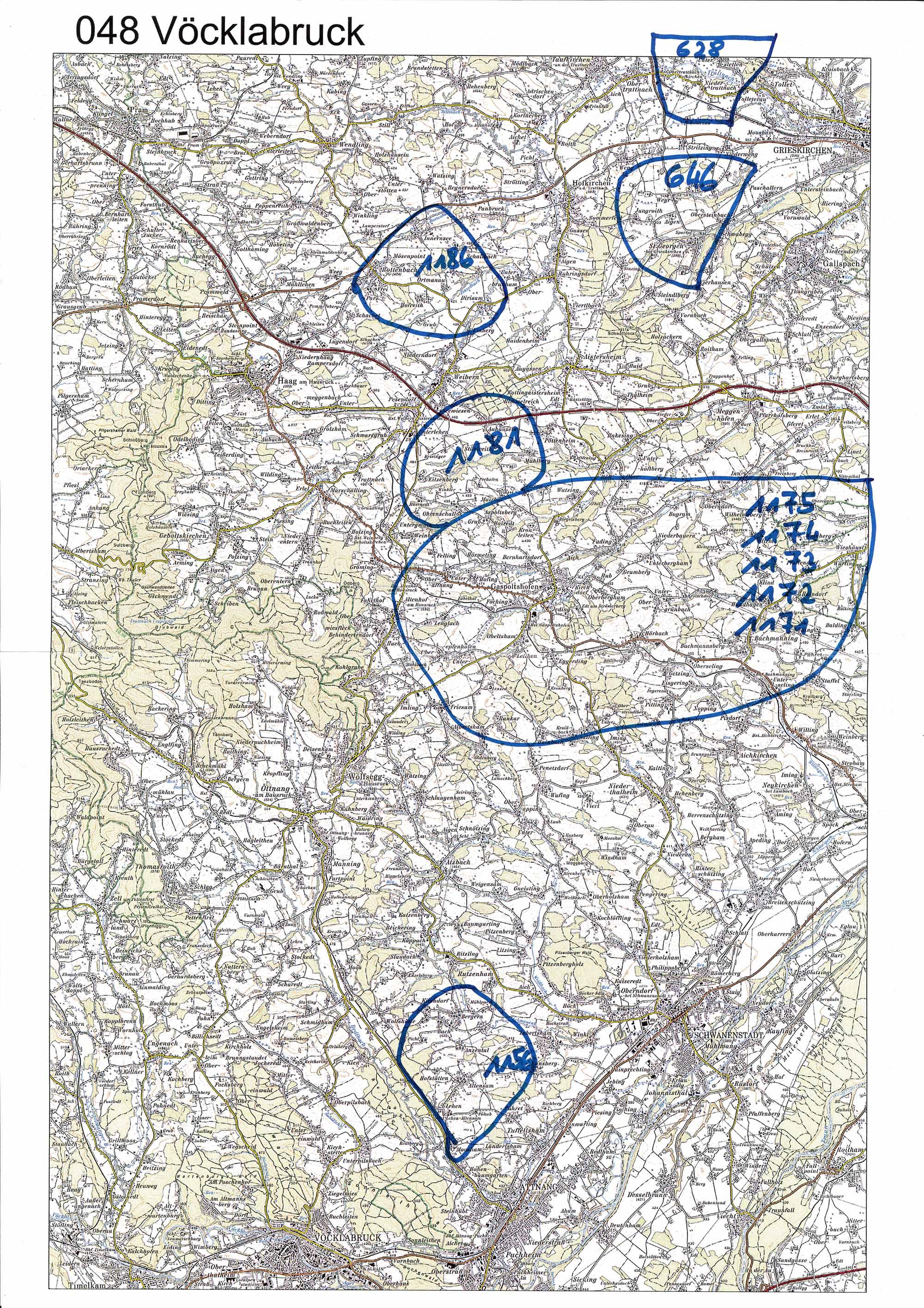 1958-1973 Karte 048 Schwarz/Weiß