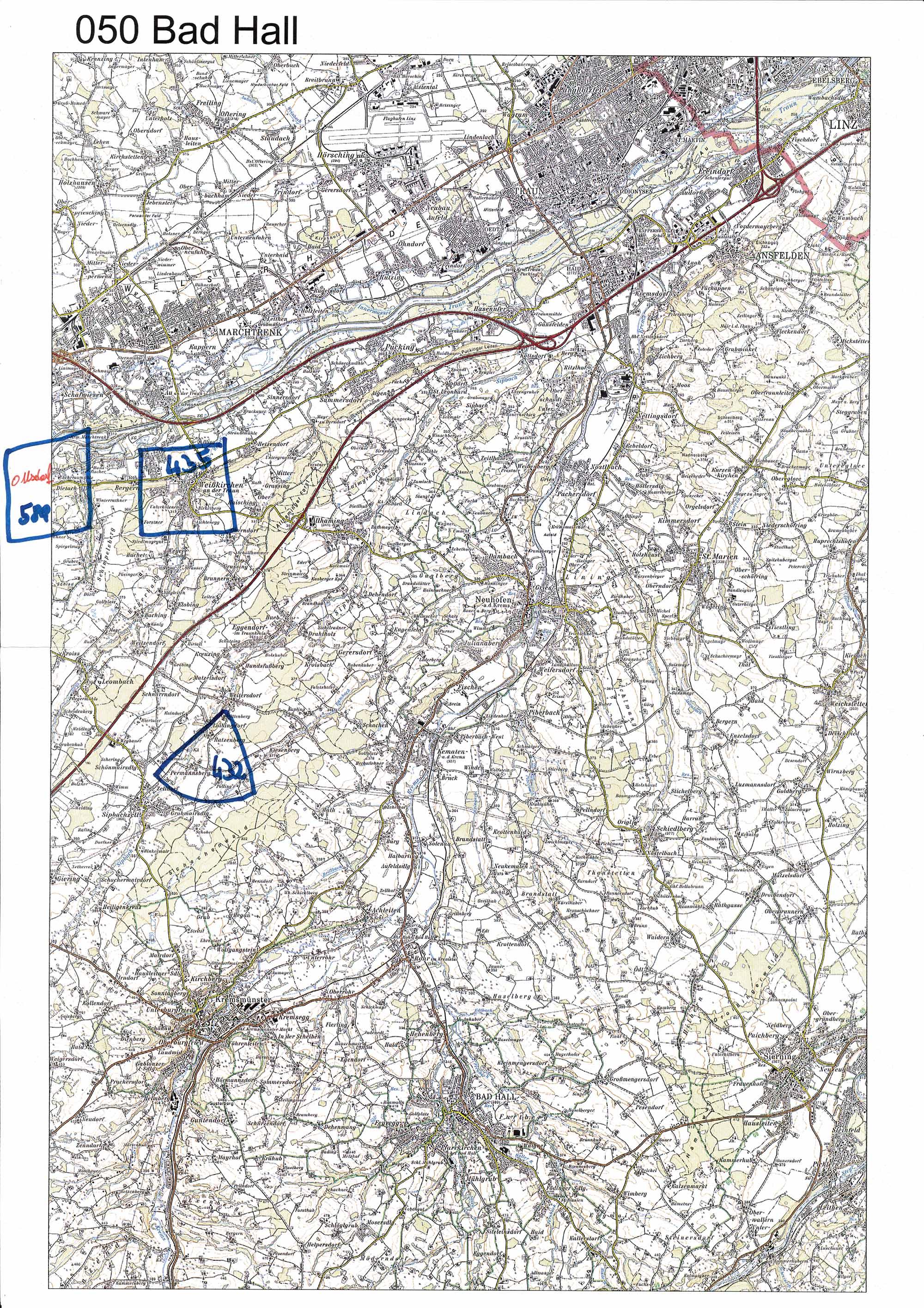1958-1973 Karte 050 Schwarz/Weiß