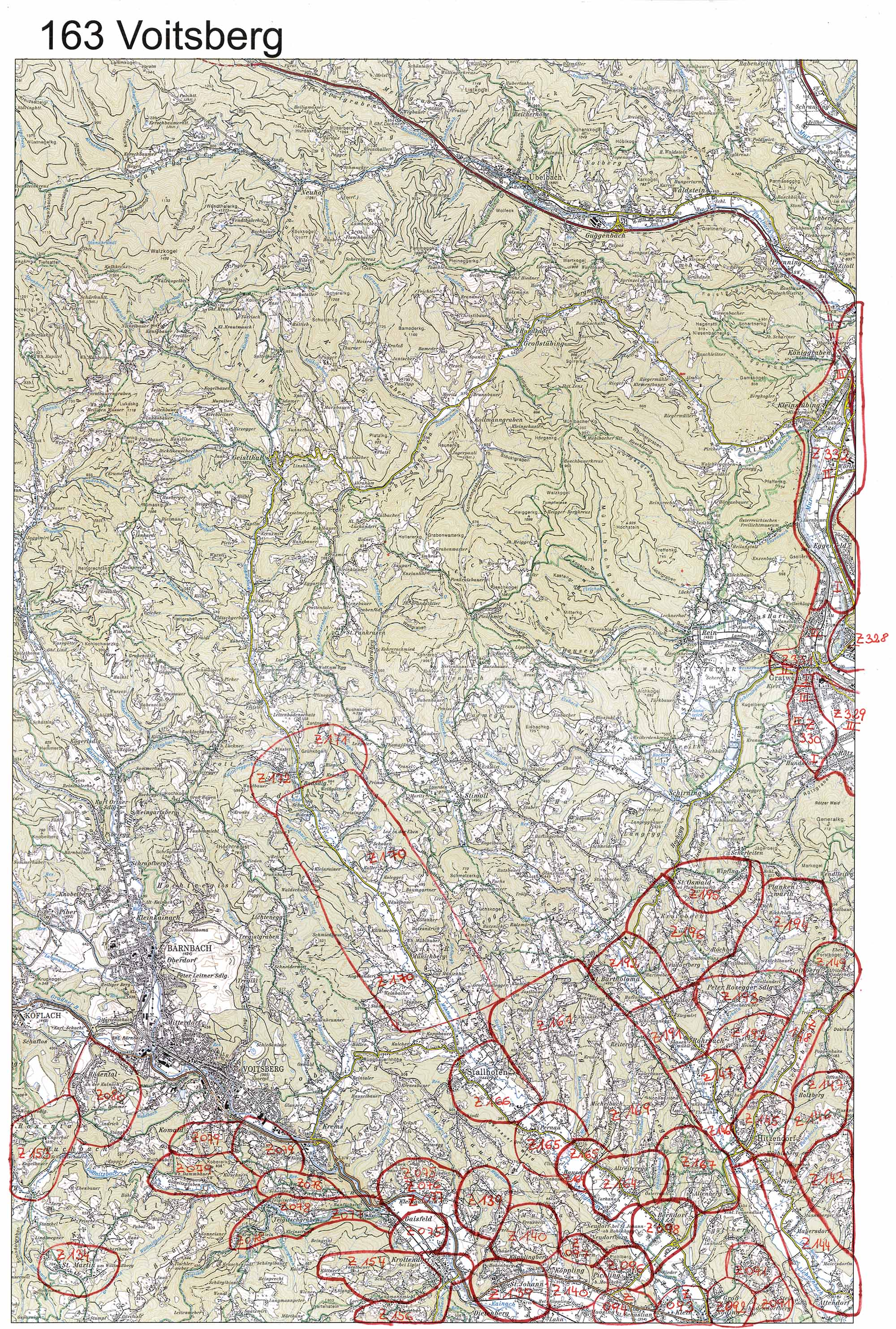 aerofoto- Karte 163