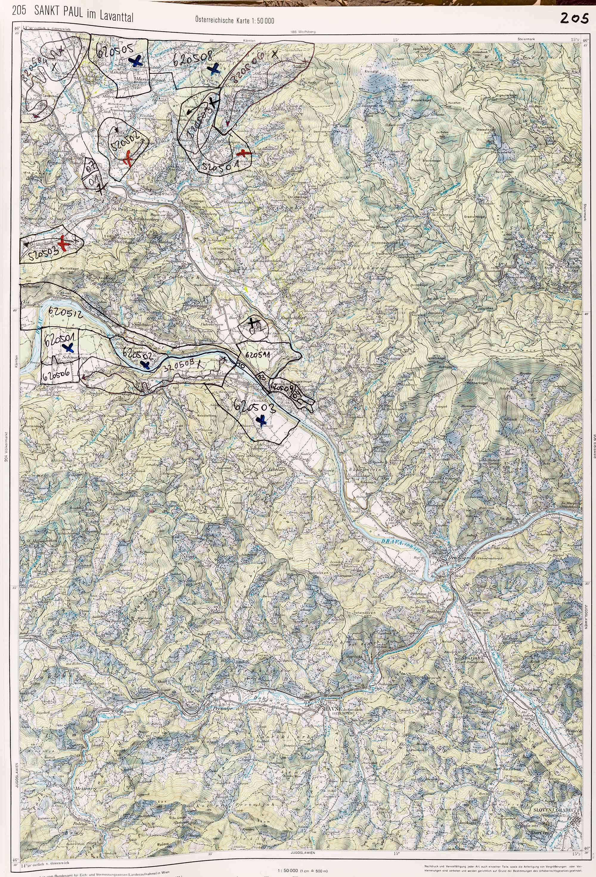 1983-1986 Karte 205