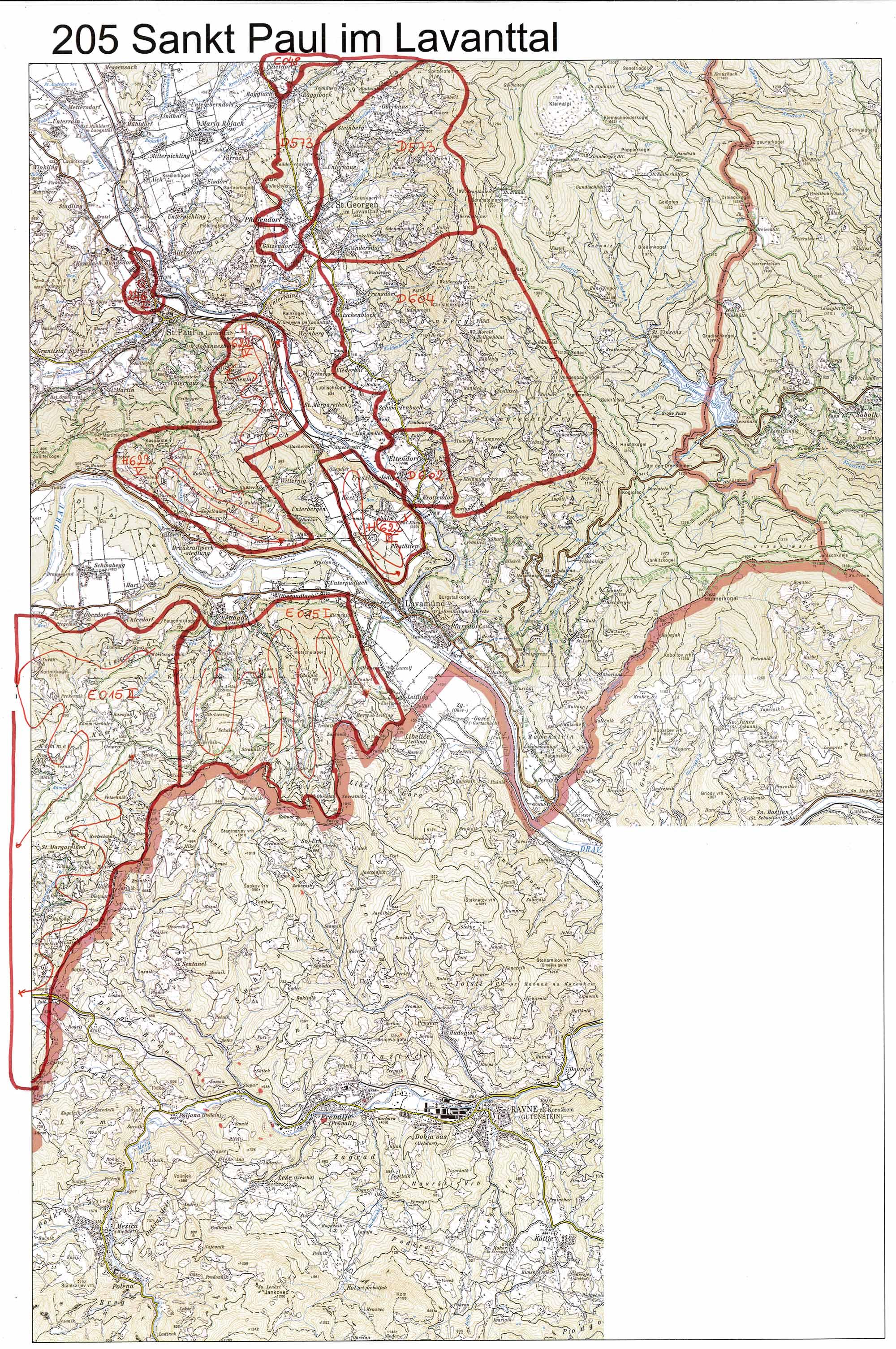 aerofoto- Karte 205