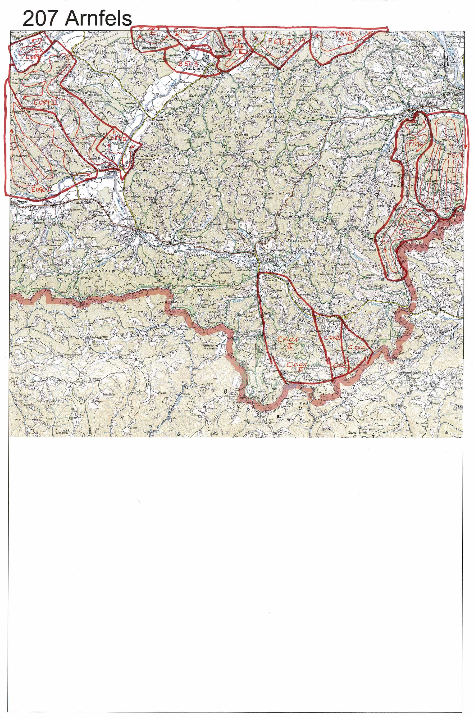 aerofoto- Karte 207