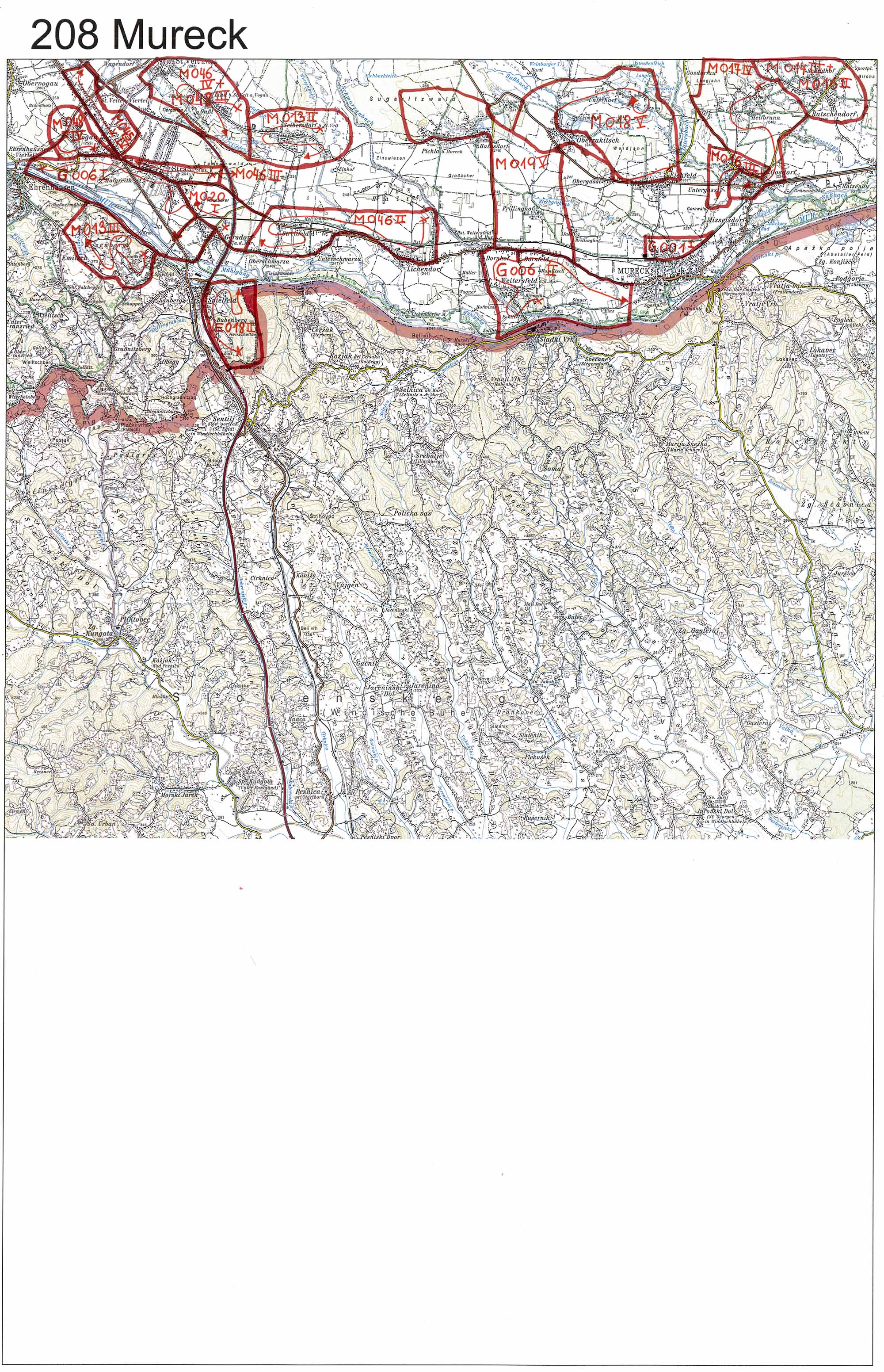 aerofoto- Karte 208